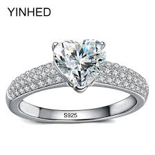 cheap heart rings images Sterling silver romantic heart ring jpg