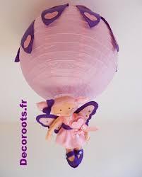 luminaire chambre bébé fille lustre enfant bébé fille coeur violet et la fée des bisous