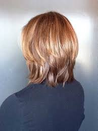 image result for layered medium haircut with bangs back view