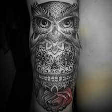 tattoo pictures of owls 50 owl and skull tattoo ideas for your first ink