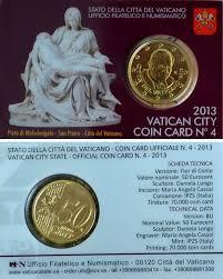 jencius coins 2013 vatican coin card 50 eurocent