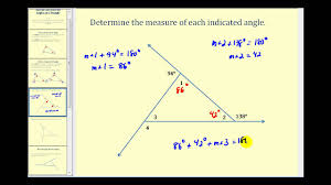 introduction to the interior and exterior angles of a triangle
