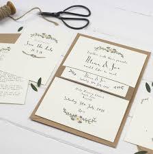 wedding invitations northern ireland bespoke postcard wedding invitation by wildflower