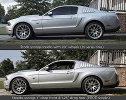 lowered cars and speed bumps steeda mustang sport springs 555 8215 05 14 gt coupe 05 10 v6