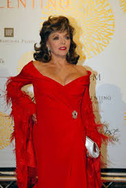 36 best joan collins in red images on pinterest joan collins