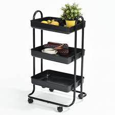 kitchen trolley island 3 tiers black kitchen trolley serving island hostess serving cart