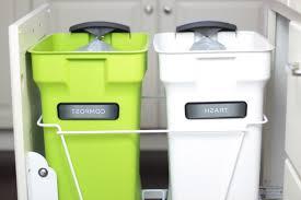 Green Kitchen Trash Can Inspiring Decorative Indoor Trash Cans 30 Gallon Kitchen Trash Can