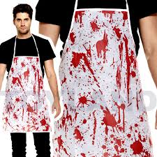 blood splatter bloody apron halloween costume prop butcher nurse