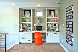 Computer Desk Built In Desk Bookcase Combination Save On Space By Turning A Bookcase Into