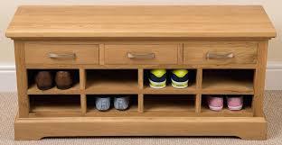 Entryway Shoe Storage Bench Wood Shoe Rack Bench Nature Holder With 3 Drawerswhite Storage