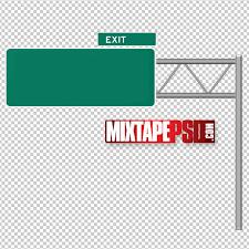 free highway sign psd template mixtapepsd com