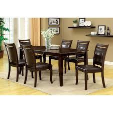 furniture of america precance 7 piece dining table set espresso