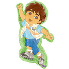 diego party supershape foil balloon