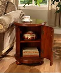 Storage End Tables For Living Room Amazon Com Safavieh American Home Collection Oval Swivel Storage