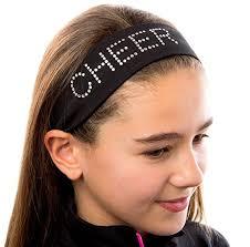 stretch headbands cheer rhinestone cotton stretch headband black at women s