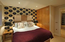 apartment simple apartment bedroom design with big mirror ideas