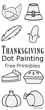 thanksgiving dot painting free printables painting activities
