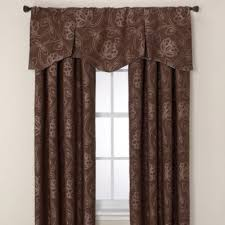 165 Inch Curtain Rod Jacobean Rod Pocket Back Tab Window Curtain Panels And Valance