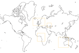 world map to color coloring free coloring pages
