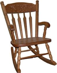 amish wooden acorn child rocker