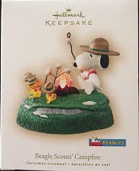 peanuts beagle scouts campfire 2007 hallmark keepsake ornament