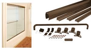 Shower Door Jamb Technologylk Rubbed Bronze Sliding Frameless Shower Door
