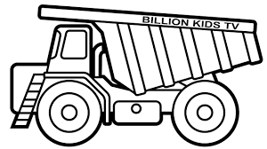 dump truck coloring pages colors for kids with construction truck