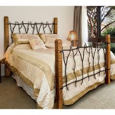 Wood And Iron Bed Frames Rustic South Fork Wrought Iron And Wood Bed Or King