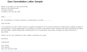 gym cancellation letter writing professional letters