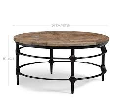outdoor metal end tables parquet reclaimed wood round coffee table pottery barn
