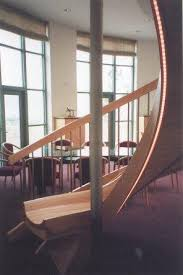 Spiral Staircase and Slide in the Office