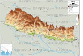 Nepal Map World by Geoatlas Countries Nepal Map City Illustrator Fully