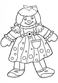 incredible doll coloring pages print regard cartoon
