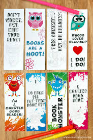 printable bookmark coloring pages kids creative