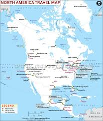 North America Map by North America Travel Information Places To Visit Map Major Cities