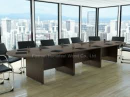 Big Meeting Table China Traditional Design Big Size Boardroom Conference Table Hf