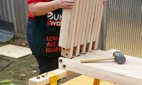 how to make a wooden garden bench learn how to build an outdoor garden bench bunnings warehouse