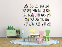Wall Decal Letters For Nursery Wall Decal Design Colourful Alphabet Decals For Walls Decor With