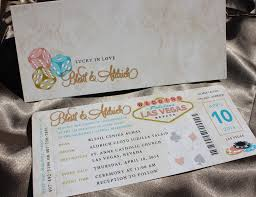 wedding invitations las vegas gold coral turquoise las vegas antique boarding pass wedding