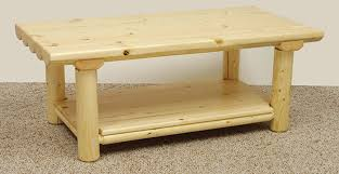 wooden coffee table decor country western rustic log cabin tables