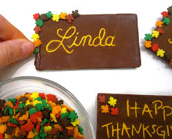 diy toothpick engraved chocolate bar thanksgiving place