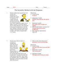 simpsons variables worksheet