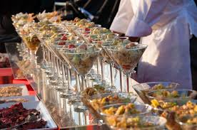 royal catering utah u2013 hor chk pasta salad in martini glasses 1