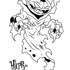 scary halloween pumpkin invite enter house coloring