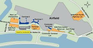 San Francisco International Airport Map by Airport Parking Maps For Richmond Sacramento San Antonio San