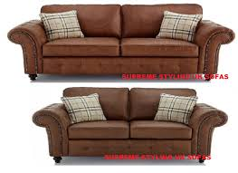 Faux Chesterfield Sofa Chesterfield Faux Leather Sofas Armchairs U0026 Suites Ebay
