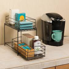 2 tier cabinet organizer seville classics 7 5 in w x 13 in x 14 in 2 tier basket cabinet