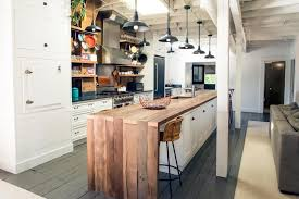 kitchen island wood 23 reclaimed wood kitchen islands pictures planked island inset