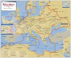 World War 2 In Europe And North Africa Map by World War Ii The European Theater Map Maps Com