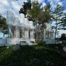 glass cylinder house in france awesome modular architecture
